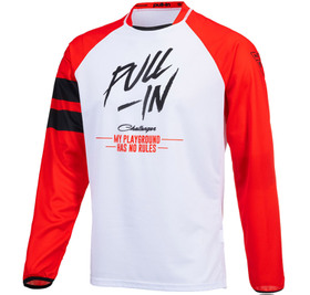 Maillot cross Pull-In Challenger Original Solid Red White 2021