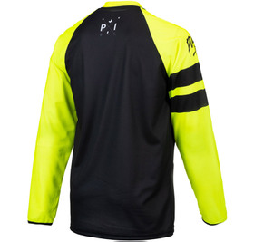 Maillot cross Pull-In Challenger Original Solid Yellow Black 2021 Dos
