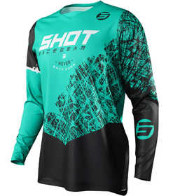 Maillot cross Shot Devo Storm Green 2021