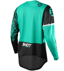 Maillot cross Shot Devo Storm Green 2021 Dos