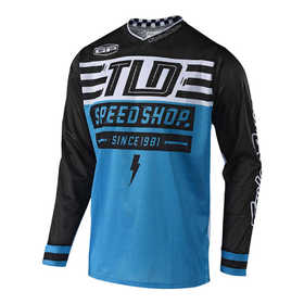 Maillot cross Troy Lee Designs GP Air Bolt Bleu 2019