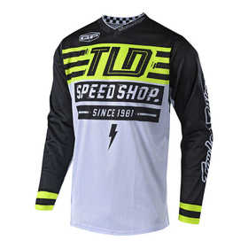 Maillot cross Troy Lee Designs GP Air Bolt Jaune Fluo 2019