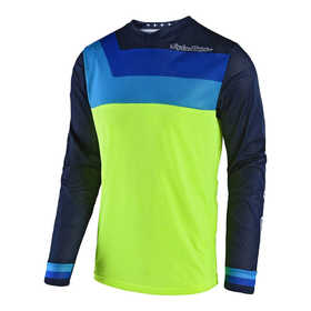 Maillot cross Troy Lee Designs GP Air Prisma Jaune Fluo 2018