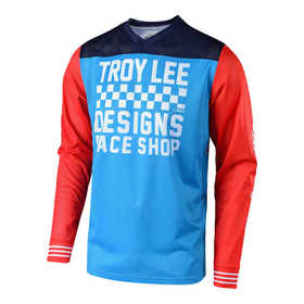 Maillot cross Troy Lee Designs GP Air Raceshop Bleu 2018