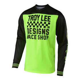 Maillot cross Troy Lee Designs GP Air Raceshop Jaune Fluo 2018