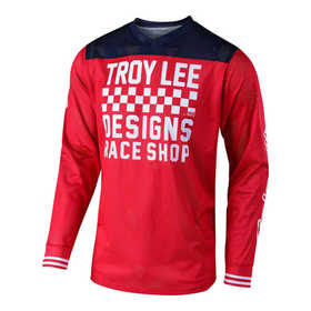 Maillot cross Troy Lee Designs GP Air Raceshop Rouge 2018