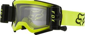 Masque cross Fox Air Space Stray Roll Off Jaune Fluo 2021