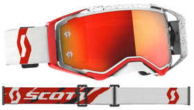 Masque Moto Cross - Scott Prospect 2021 - Blanc et Rouge