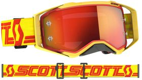Masque Moto Cross - Scott Prospect 2021 - Jaune et Rouge