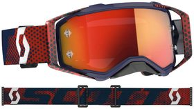 Masque Moto Cross - Scott Prospect 2021 - Navy et Orange