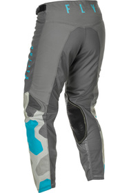 Pantalon cross Fly Kinetic K221 Gris 2021 Dos
