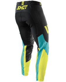 Pantalon cross Shot Aerolite Airflow Lime 2021 Dos