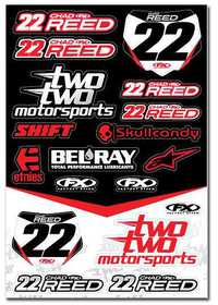 Planche d'autocollants Chad REED TwoTwo Motorsport
