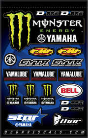 Planche d'autocollants D'Cor Monster Yamaha Star Racing