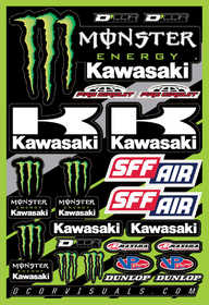Planche d'autocollants D'Cor Team Monster Kawasaki