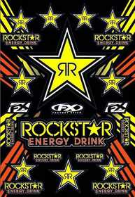 Planche de stickers FX Rockstar Yellow