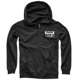 Sweat zippé Thor Star Racing Chevron Noir 2020
