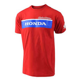 Tee Shirt Troy Lee Designs Honda Team Wing Block Rouge 2018