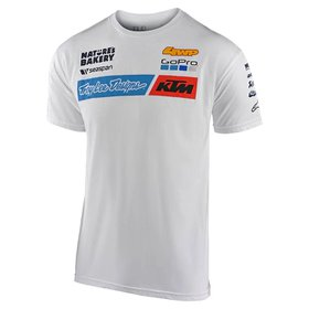 Tee Shirt Troy Lee Designs Team KTM GoPro Blanc 2020