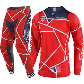 Tenue cross Troy Lee Designs SE Air Metric Rouge